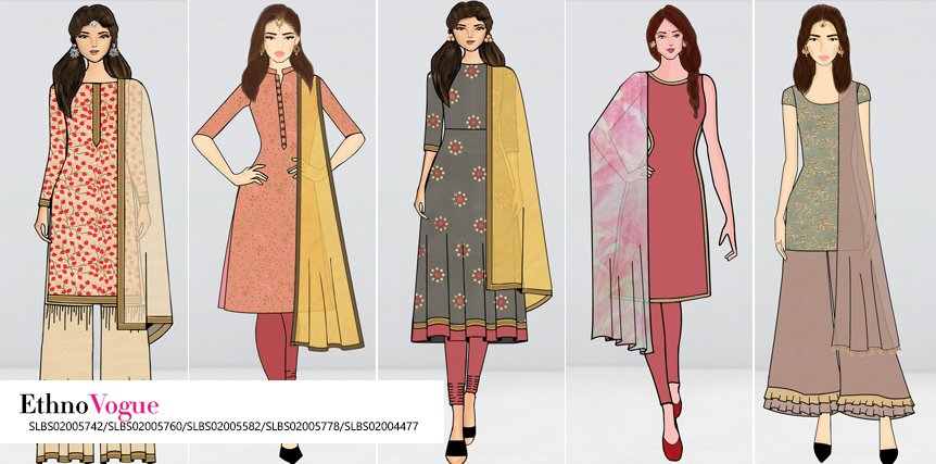 Peachy Keen Salwar Suits