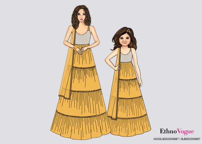 Mother and Daughter Gowns